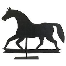 19th Century Horse Sheet Metal Weathervane