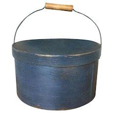 19th Century Bail Handle - Indigo Blue