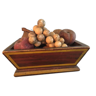 19th Century Beautifully Painted Box /Full Collection of Early Stone Fruit