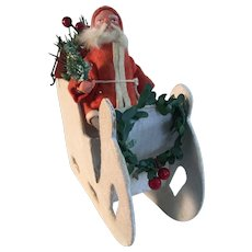 19th Century Santa in Mica Sleigh - GERMANY