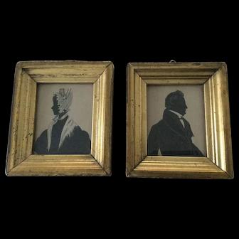 19th Century Beautiful Silhouettes - Original Frames