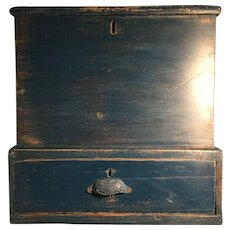 19th Century Blue Blanket Chest - Small Size Great for Coffee Table