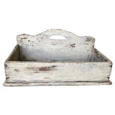 19th Century Wall Box - Oyster White Paint
