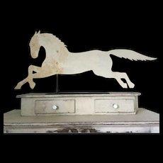 19th Century Running Horse Weathervane - Oyster White