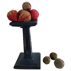 19th Century Mini Pedestal and Great, Early Strawberry Emeries