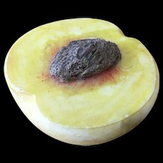 Antique Stone Fruit - Half Peach /pit