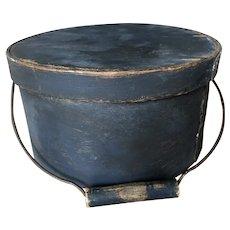 19th Century Nice Blue Bail Handle Pantry