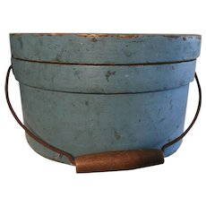 19th Century Blue Bail Handle Pantry - Robins Egg Blue