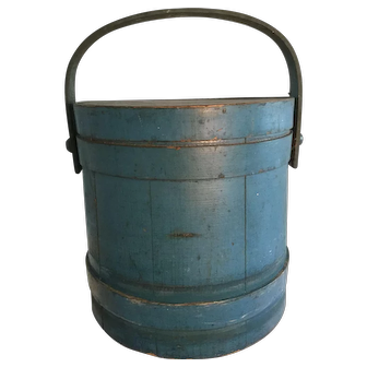 Beautiful Blue Firkin - 19th Century