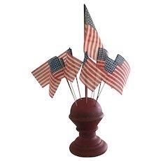 Beautiful Make-Do Flag Holder/Gauze Flags