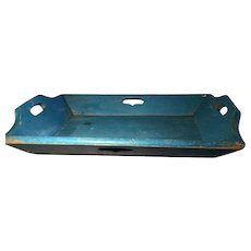 19th Century Blue Apple Tray - GREAT