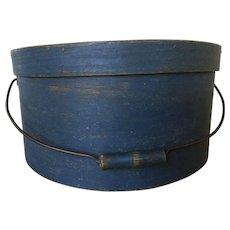 19th Century HUGE Beautiful Blue Bail Handle Pantry