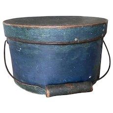 19th Century Bail Handle - Beautiful Blue Pantry Box