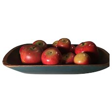 Early Carved Wooden Apples - 13 - Great Offering