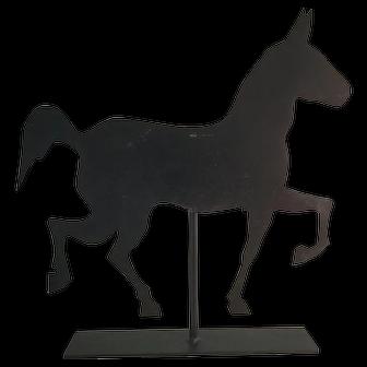 19th Century Sheet Metal Horse Vane