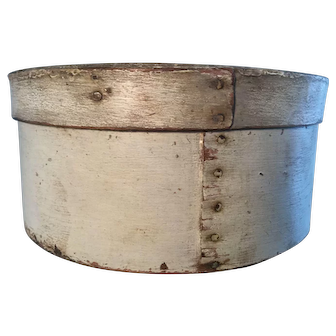 19th Century Oyster White Pantry Box