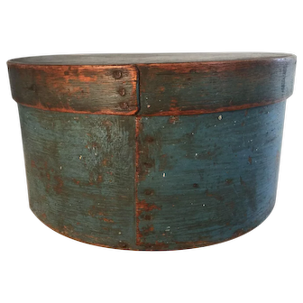 19th Century Beautiful Blue Pantry Box