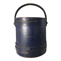 19th Century Blue Firkin - No Staples