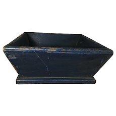 19th Century Beautiful Blue Apple Box