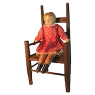 19th Century Perfect Chair and 19th Century Super Doll