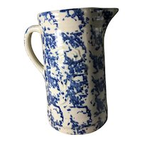 """Early """"Embossed"""" Sponge Pitcher"""