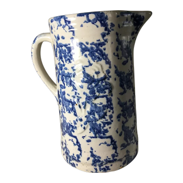 "Early ""Embossed"" Sponge Pitcher"