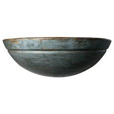 Early HUGE Beautiful Blue Bowl