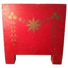 19th Century LARGE Red Feather Tree Stand