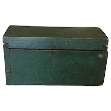 19th Century Dovetailed Windsor Green Document Box