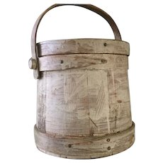 19th Century Oyster White Firkin - No Staples - GREAT