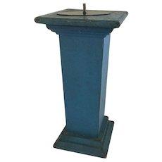 19th Century Federal Blue Pedestal