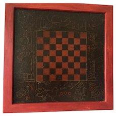 1910 Folk Art Game Board