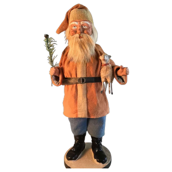 "GREAT Santa ""Woodcutter"" Candy Container"