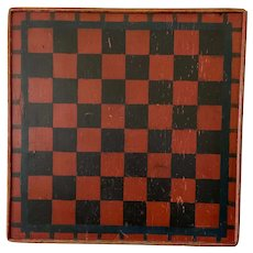 """19th Century """"Folky"""" Game Board/Square Nails"""