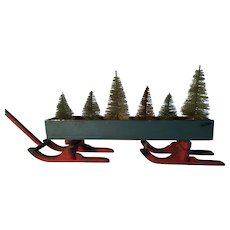 Great 19th Century Sleigh - Blue with Red Runners