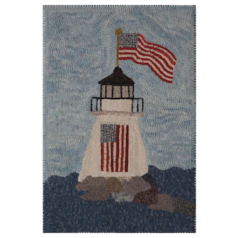 Hooked Rug by Polly Minick - Lighthouse