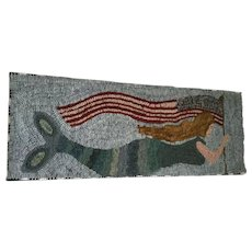 Hooked Rug by Polly Minick - Mermaid