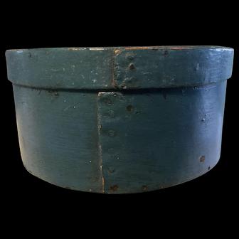 19th Century Medium Blue Pantry Box