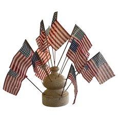 Oyster White Flag Holder/Flags