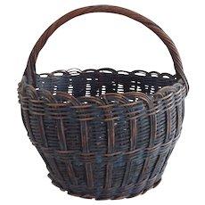 Beautiful Blue Basket - Wonderful Original Surface