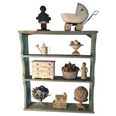 19th Century Robins Egg Blue Shelf - Great!