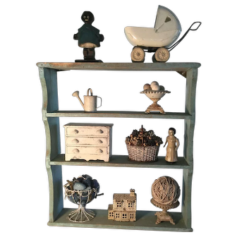 19th Century Robins Egg Blue Shelf - Great!