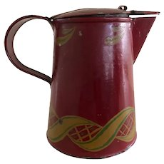 Rare Size, Rare Color Tole Pitcher