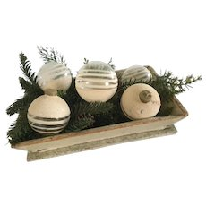 19th Century Oyster White Apple Box/Ornaments