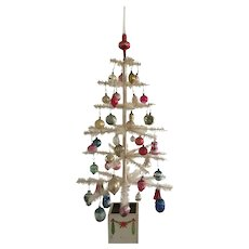 Early White Feather Tree - Fully Decorated