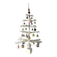 Antique White Feather Tree/Decorated