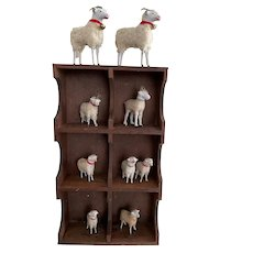 Great Little Antique Cupboard/Full of Early Sheep