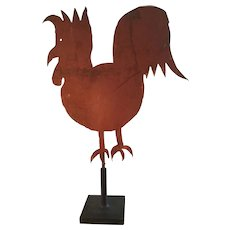 "19th Century ""Folky"" Red Chicken Vane"