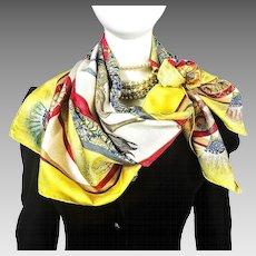 Authentic Vintage Hermes Silk Jacquard Scarf Feux d'Artifice