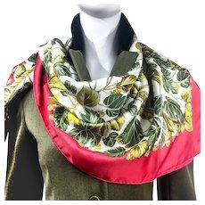 Vintage Hermes Silk Twill Scarf L'Arbre de Soie – The Silk Tree